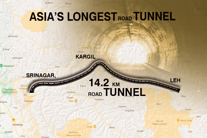 Works on crucial and strategic 14.15 km Zojila Tunnel to commence on Oct 15 with the first blasting